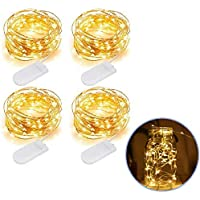 4-Pack Money2U Mini Battery Operated Copper Wire Starry Fairy Lights