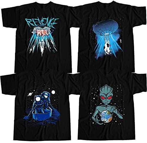 Kit 4 Camisetas Alien Abdução Astronauta