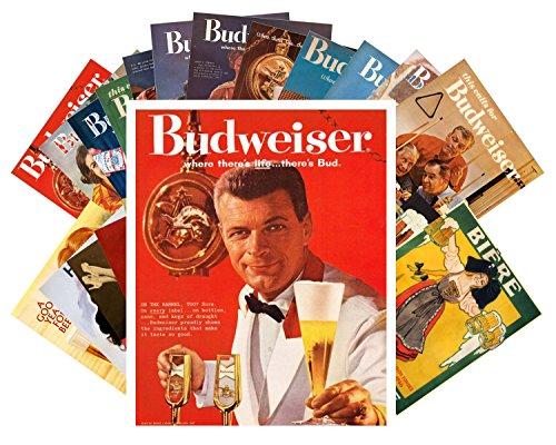 24 Postkarten Budweiser Beer Ads Vintage Adverts