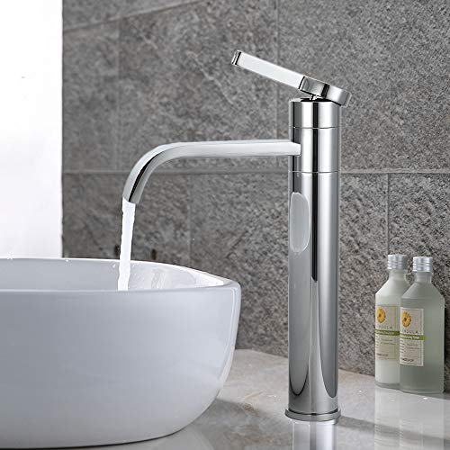HOMELODY Wasserhahn Bad Wasserfall Hoch,360° Schwenkbare Waschtischarmatur Mischbatterie,Armatur Einhebelmischer Hohe für Waschbecken Badarmatur Badezimmer,Geeignet für Aufsatzwaschbecken