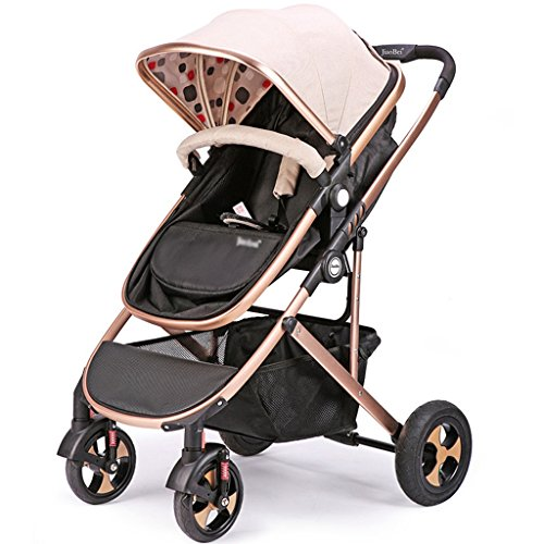 Review Flatbed Stroller Summer Bidirectional Trolley Highland Cart Lightweight Carriage Luxury High ...