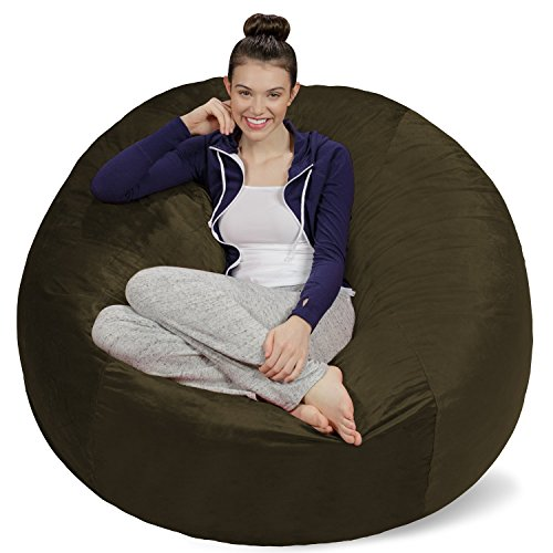 Sofa Sack - Plush Ultra Soft Bean Bags Chairs for Kids, Teens, Adults - Memory Foam Beanless Bag Chair with Microsuede Cover - Foam Filled Furniture for Dorm Room - Olive 5'