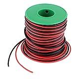 SM SunniMix Câble en Silicone 30 Mètres– 18 AWG Fil d'Isolation – Fil de Silicone pour Électronique Industrielle, Modèle d'avion, Voitures
