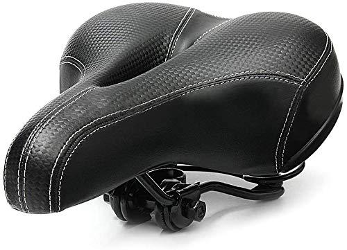 Asiento de bicicleta cómodo sillín de doble resorte diseñado con espuma viscoelástica transpirable suave cojín de bicicleta