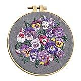 joyMerit Starter Embroidery Set Kit De Punto De Cruz Craft DIY Tools -Hilos, Tela,