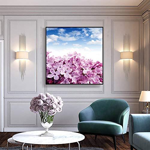 Preisvergleich Produktbild wydlb Blumen Leinwand Malerei Home Decor,  Malerei Blumen Poster Druckbild Wandkunst Bild für Wohnzimmer 60x60cm ohne Rahmen