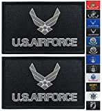JBCD 2 Pack Black US Air Force Wings Flag Patch Force Army Flags Tactical Patch Pride Flag Patch for Clothes Hat Patch Team Military Patch