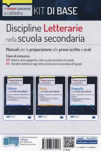 Kit discipline letterarie nella scuola secondaria. Manuali per la preparazione alle prove scritte e orali. Classi A22 - A12. Con software di simulazione