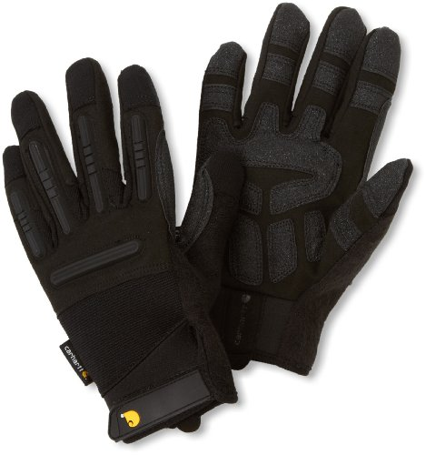 Carhartt Men's Ballistic Spandex Work Glove with TPR Knuckle Protection, Black, XX-Large