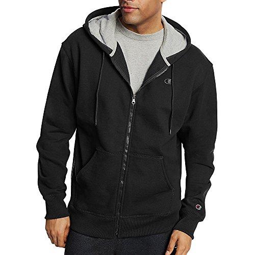 Champion Men's Powerblend Fleece Full Zip Jacket_Black_M