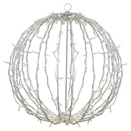 23' LED Lighted Christmas Hanging Ball Decoration – Warm White Lights