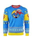 Superman Weihnachtspullover 'Bad Guys Get Coal' Weihnachts Sweatshirt Unisex - XS