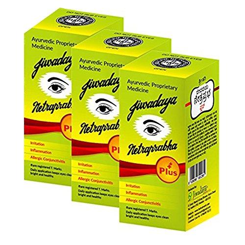 Jiwadaya Netraprabha Plus Ayurvedic Herbal Honey Base Eye Drops, Green, 10 ml (Pack Of 3)