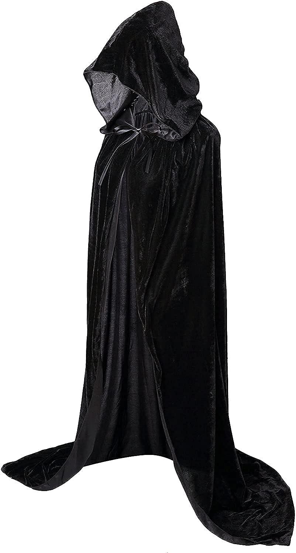 kaitniris Unisex Hooded Cloak Long for Velvet Cape Hal 4 Bombing free shipping years warranty Christmas
