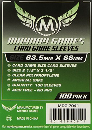 "Mayday Game Card Sleeves 2 1/2"" X 3 1/2"" (100 Pack)"