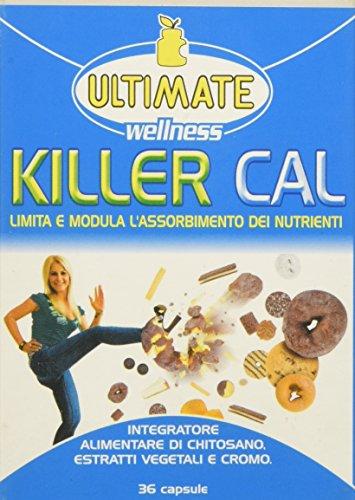 Killer Cal - Integratore Alimentare Per Assimilare Meno Calorie - Integratore Di Chitosano, Estratti Vegetali E Cromo - Limita L'assorbimento Dei Grassi E Dei Carboidrati - 36 Cps - Ultimate Italia