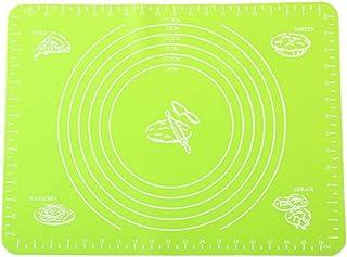 Tapis de cuisson multifonction en silicone résistant à la chaleur pour table de cuisine, tapis de pâtisserie avec graduati...