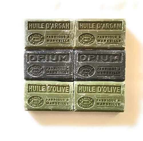Marseille Biologische zeep met arganolie - 6 x 100 g - argan, opium, olijfolie