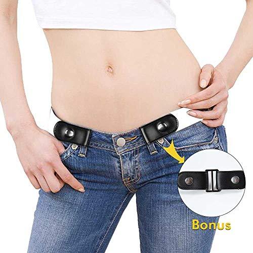 "AUOKER Cintura Senza Fibbia Cintura Elastica, Buckle Free Women Stretch Belt Elastico in Vita, Ajustable 23\""-37\"""