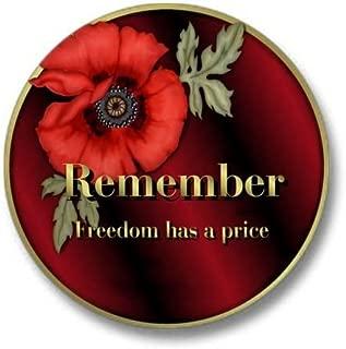 Remember Poppy Mini Button 1