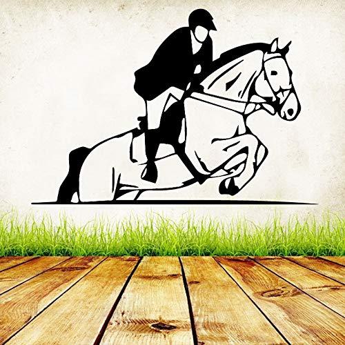 wZUN Kreative Pferderennen Design Wandaufkleber für Schlafzimmer Wohnzimmer Dekoration Vinyl Selbstklebende Kunst Aufkleber 86x58cm