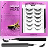 iMethod Eyelash Glue Pens and False Eyelashes - Lash Glue Pens 2 Counts & Fake Eyelashes 6 Pairs, Never been Easier to Place Lashes, All Day Wear
