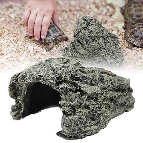 Schildkröte Aalen Plattform Aquarium Hide Cave natürlichen Lebensraum Rocks schwimmende Insel Aquarium Stein Dekor für semi-aquatische Tiere Reptil(Klein)