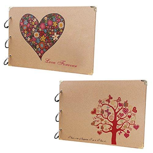 Gosear 10 Inch 30 Black Sheets Craft Paper Self-Adhesive Handmade Scrapbook Wedding DIY Photo Album