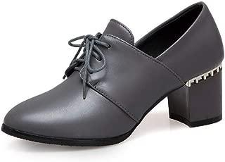 BalaMasa Womens APL11823 Pu Block Heels