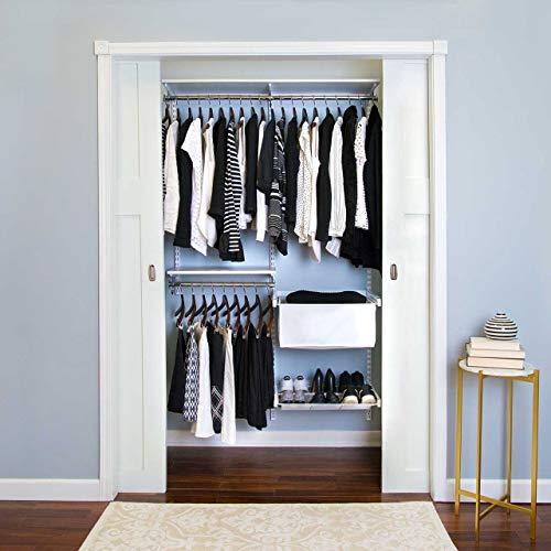 Organized Living freedomRail Adjustable Closet Organizer Kit, 48'- 52',White