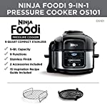Ninja OS101 Foodi 9-in-1 Pressure Cooker and Air Fryer with Nesting Broil Rack, 5-Quart Capacity, and a Stainless Steel…