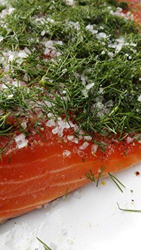 Lachs gebeizt mit Dill Graved Lachs 1.1 kg ✔ Mit frischen Kräutern und Bio Zitrusfrüchen in eigener Manufaktur hergestellt
