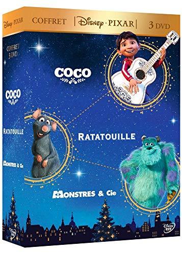 Coffret Disney Pixar 3 DVD : Coco + Ratatouille + Monstres & Cie [Francia]