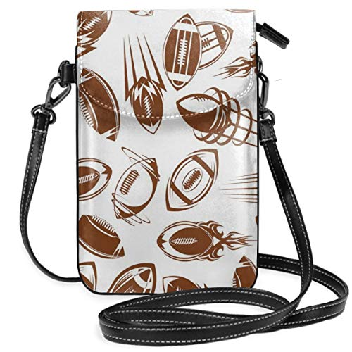 Jiger Women Small Cell Phone Purse Crossbody,Retro Comicbook Style Flying Spinning Balls With Motion Trails Sports Competition