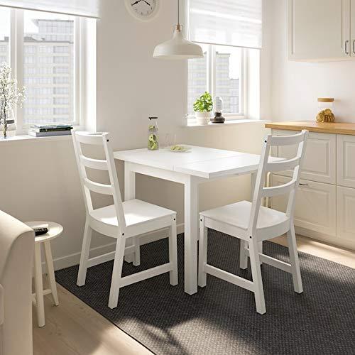 Tok Mark Traders NORDVIKEN - Mesa de hoja, 74/104 x 74 cm, resistente y fácil de cuidar, hasta 4 asientos, mesas de comedor, mesas y escritorios, muebles ecológicos
