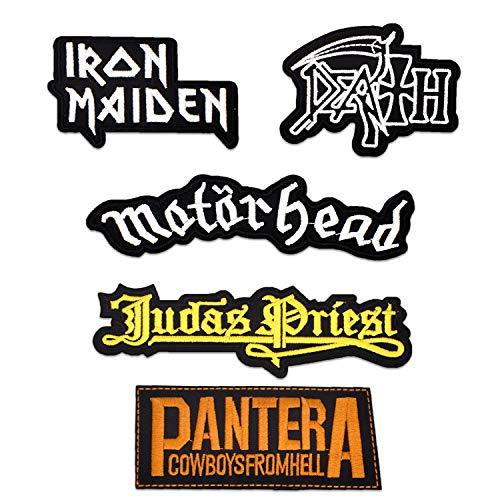 makstore 5 piezas Heavy Metal Patch Punk Rock Band termoadhesivo para
