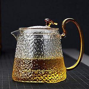 Kavas ティーポット 耐熱ガラス ガラス製ポット 紅茶 フルーツティー リーフティー 花茶 工芸茶 ハーフティー に 直火可 業務用 飲食店 お店用 ティーパーティに大活躍