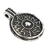Asgard Amuleto de Protección - Escudo de la Buena Suerte - Colgante Vikingo con...