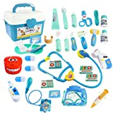 WTOR Toys 40PCS Medical Kits Pretend Play Doctor Toy Dentist Play Doctor Set