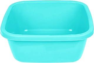 طبق غسيل بلاستيك مربع من الهلال والنجمة، 35 سم - تركواز