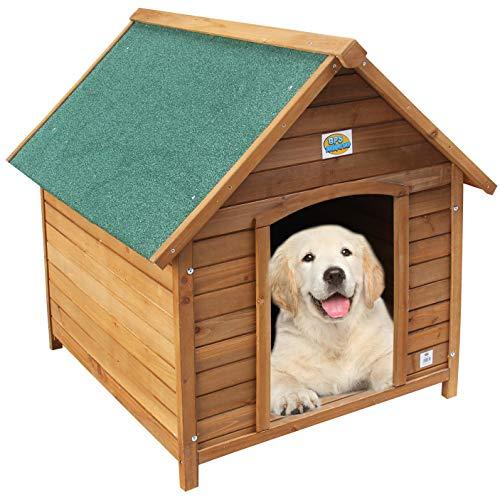 BPS Caseta de Madera Casa para Perros Mascotas con Capa Superior Impermeable Tamaño S/M/L (L: 103 * 91 * 98 cm) BPS-1354