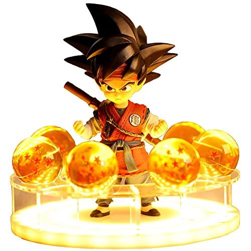 XST Figuras De Acción De Dragon Ball Goku Juegos De Estatua, Modelo De Muñecas Coleccionables Premium De 16 Cm Adornos De Decoración con Luz LED Regalos De Cumpleaños