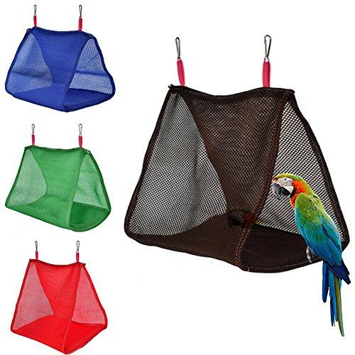 Danigrefinb huisdier benodigdheden voor vogels zomer papegaai vogels ademende hangmat opknoping grot kooi hut tent bed stapelbed speelgoed - roze L