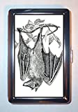 Bat Victorian Gothic Naturalist Scary Art: Stainless Steel ID or Cigarettes Case (King Size or 100mm)