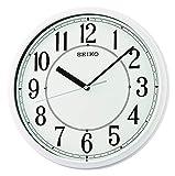 Seiko Relojes de Pared de plástico Blanco, 305 mm