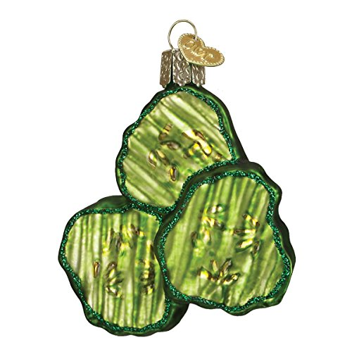 Old World Christmas Ornaments: Pickle Chips Glass Blown Ornaments for Christmas Tree (28105)