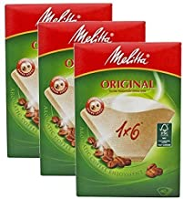 Genuine Original Melitta 1 x 6 Coffee Machine Brown Paper Filters by Melitta
