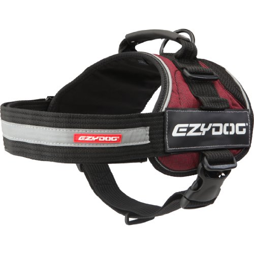 EzyDog Convert Trail-Ready Outdoor Adjustable Dog Harness - Perfect for Hiking, Walking, and Doubles as a Service Dog Vest - Superior Comfort Design with a Durable Traffic Handle (Small, Burgundy)