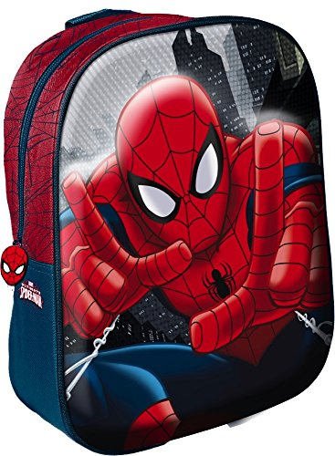 Star Licensing Marvel Spiderman Zaino 3D Zainetto per bambini, Multicolore