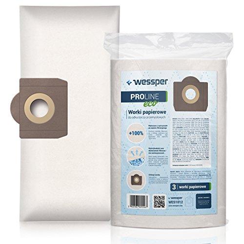Wessper® Staubsaugerbeutel für Columbus ST12 (3 Stück, Papiersäcke)
